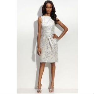 Mangy London sleeveless jacquard sheath dress